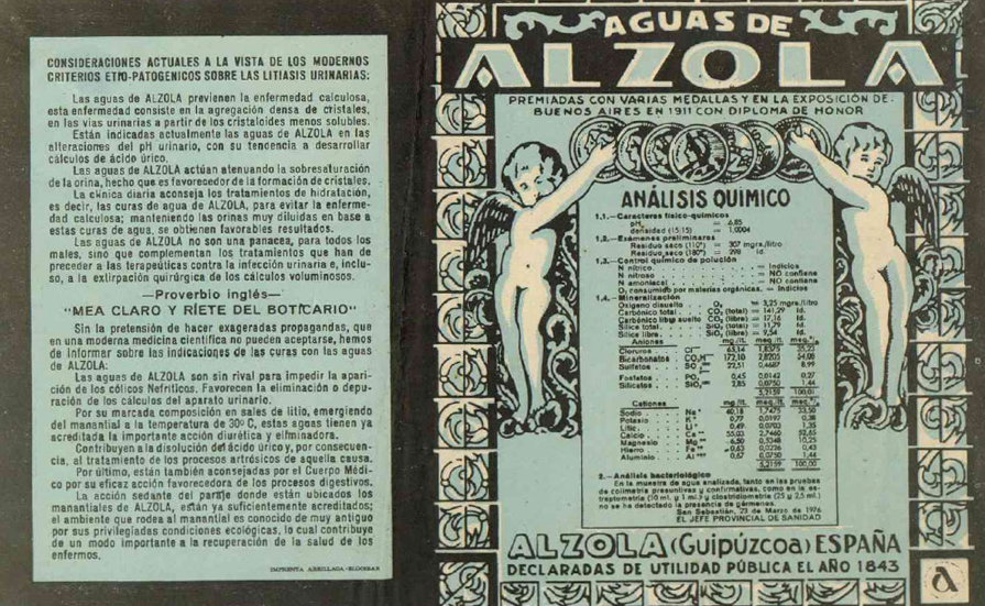 Alzola Basque Water es Agua Mineral Natural de Manantial