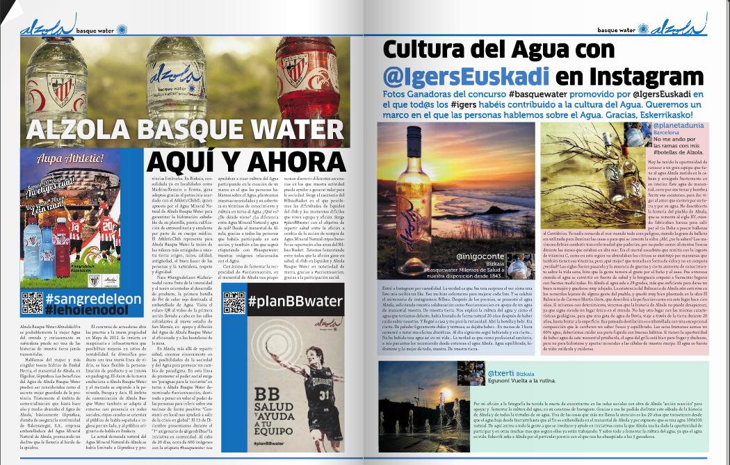 Cultura del Agua Mineral Natural Alzola BasqueWater en colaboración con Aliron!