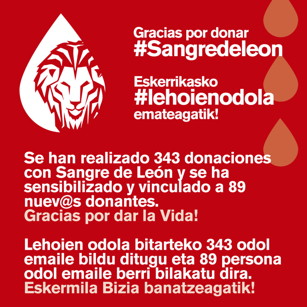 Gracias por donar. Sangre y Agua son Vida