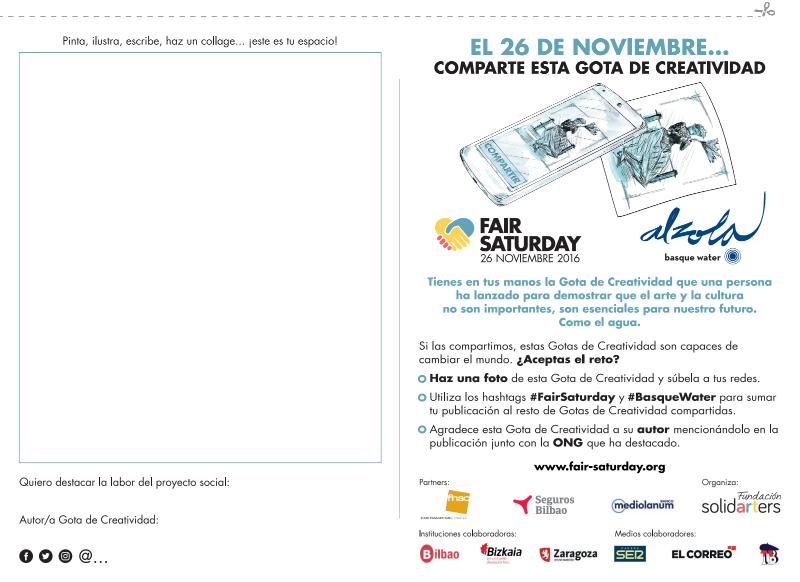 Gotas de Creatividad FairSaturday Alzola Basque Water Comparte tu Gota de Creatividad