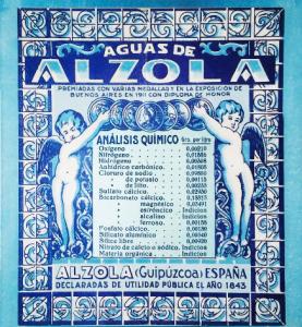 Mea Claro y Riete del Boticario con el Agua Mineral Natural Alzola Basque Water