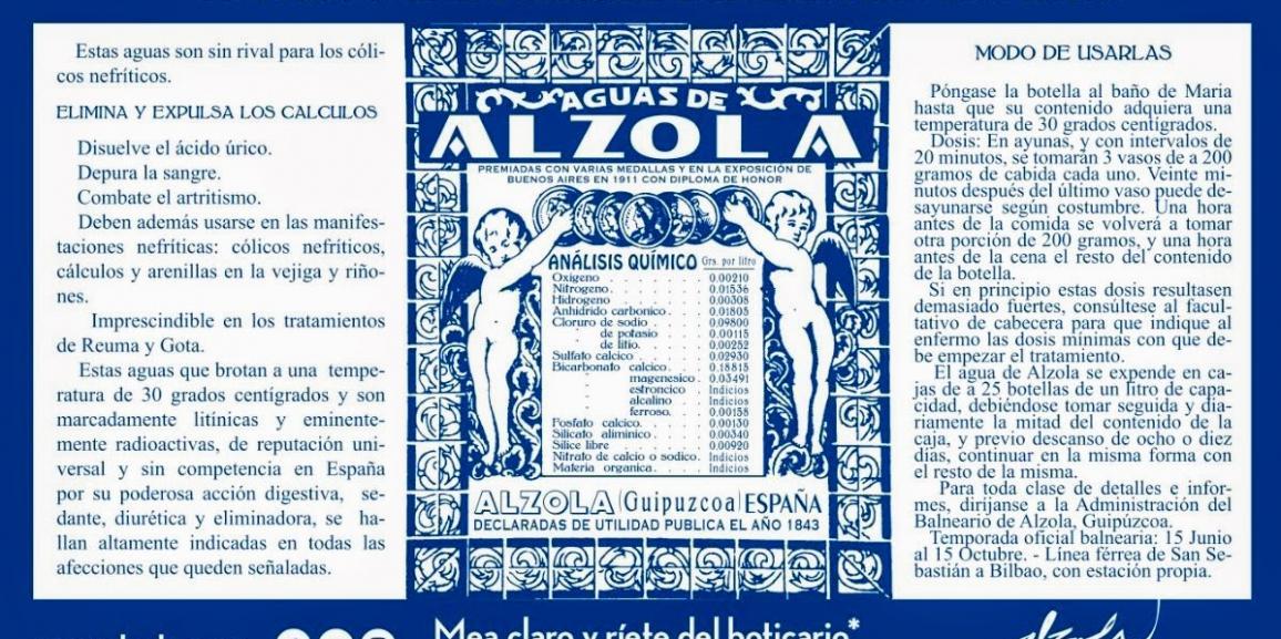 Receta Médica Clásica del Balneario de Alzola