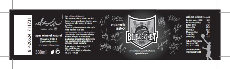 Etiqueta personalizada Etiqueta personalizada para PlanBBwater Bilbao Basket Alzola Basque Water