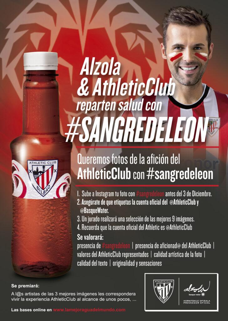 Sube tu foto de la afición del Athletic Club a instagram con #sangredelon y etiqueta @basquewater y @athleticclub