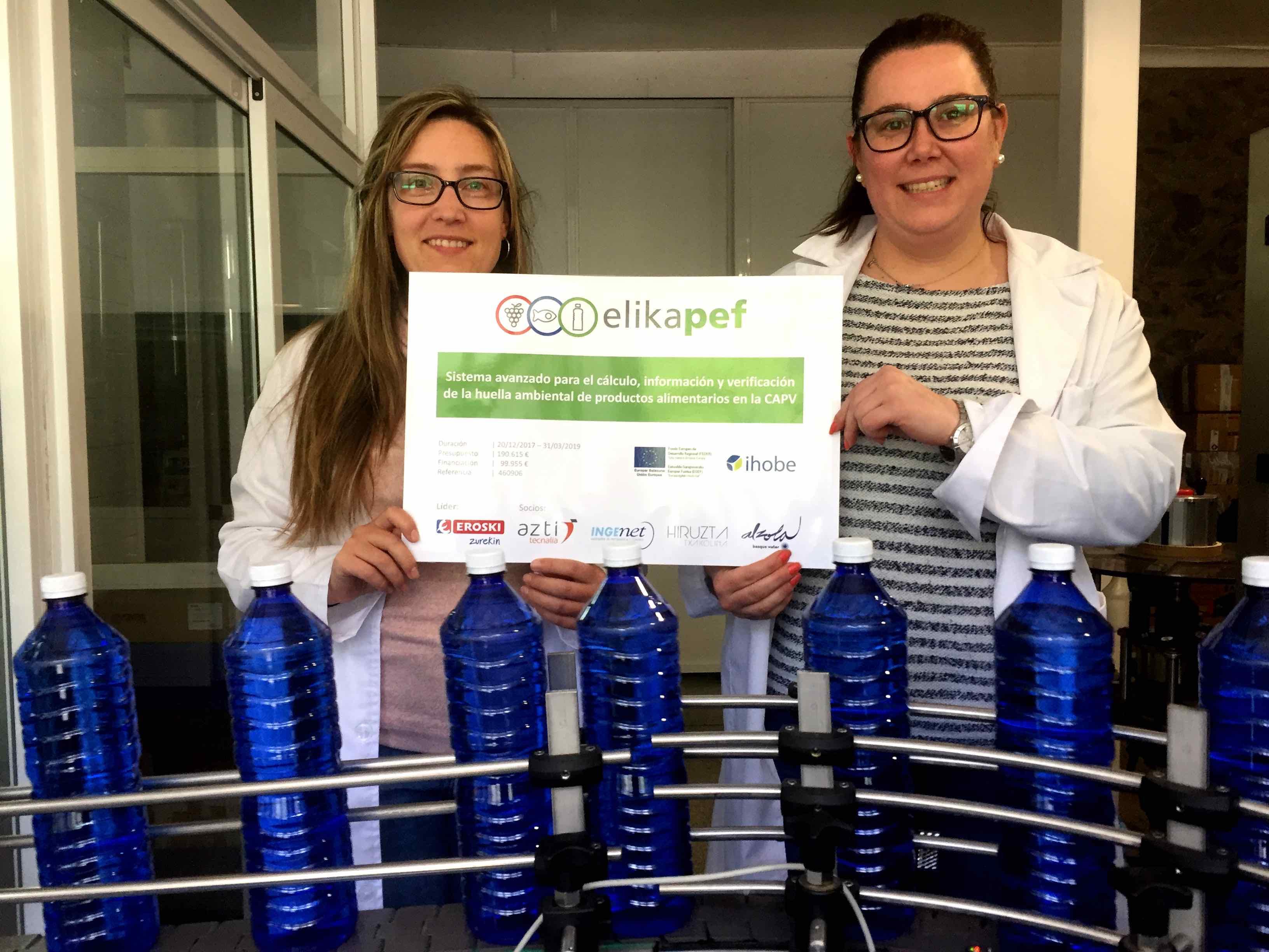 La Huella Ambiental del Agua Mineral Natural Alzola BasqueWater con ElikaPEF