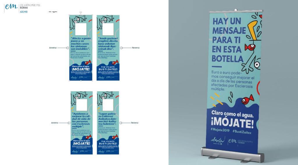 Mensajes en las corbatas del Mojate2019