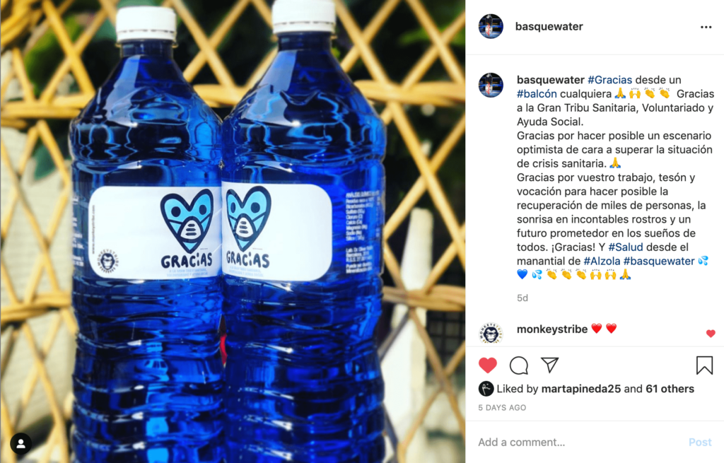 Instagram Alzola Basque Water Gracias Gran Tribu Sanitaria Voluntariado Ayuda Social