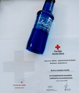 reconocimiento Cruz Roja vínculo social Alzola Basque Water