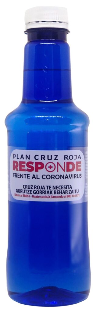 Botella Alzola 330 etiqueta Cruz Roja Responde