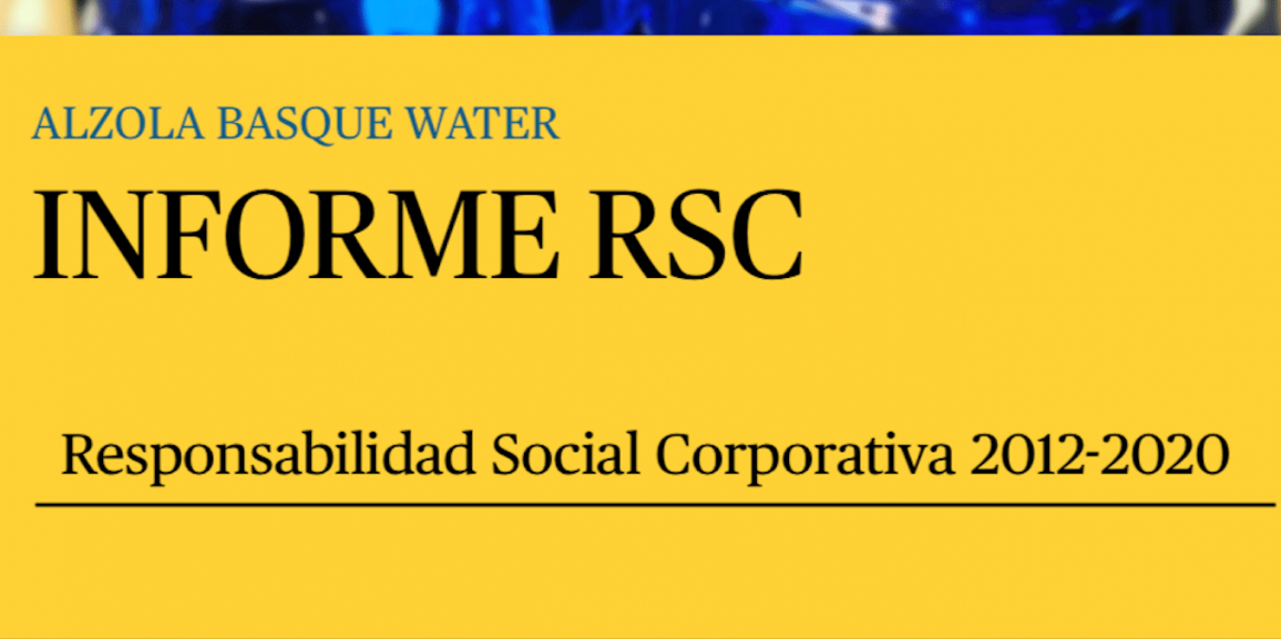 Informe RSC Alzola Basque Water 2012-2020.