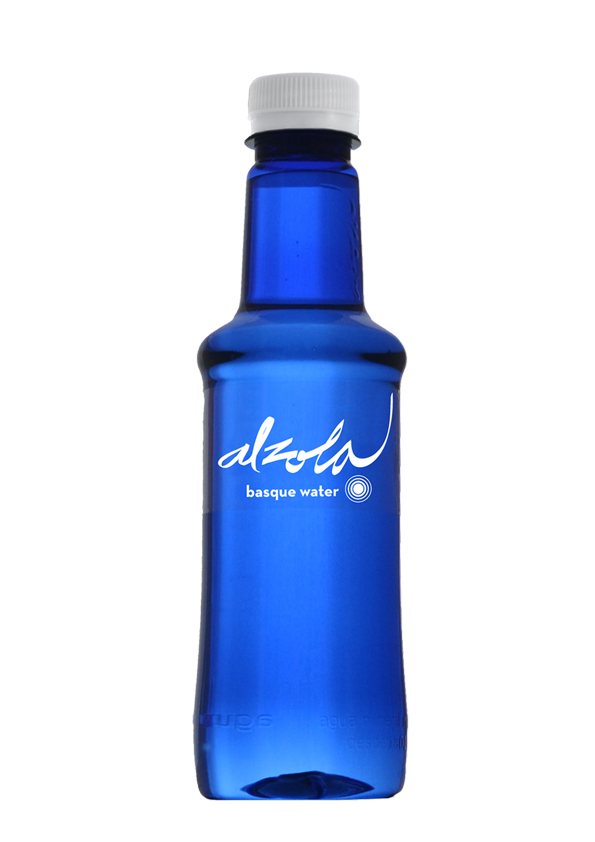 Alzola Basque Water botella 330ml. pet azul etiqueta transparente